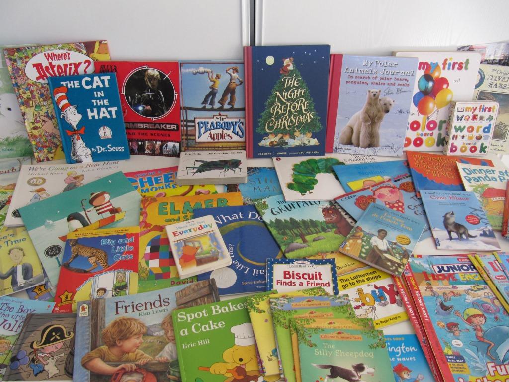 Livres enfants à l'Atelier pour cours d'anglais